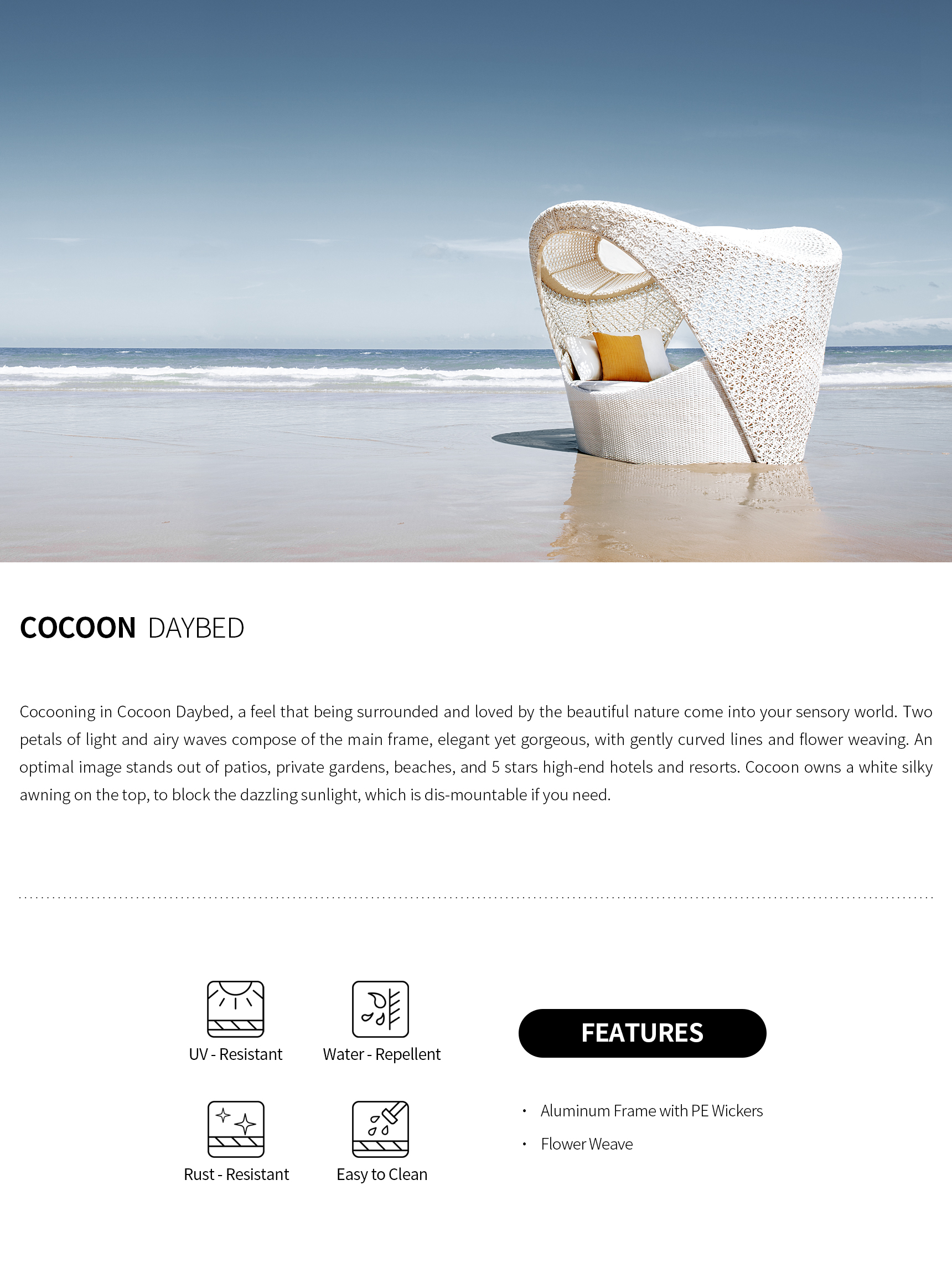 Cocoon Daybed详情页